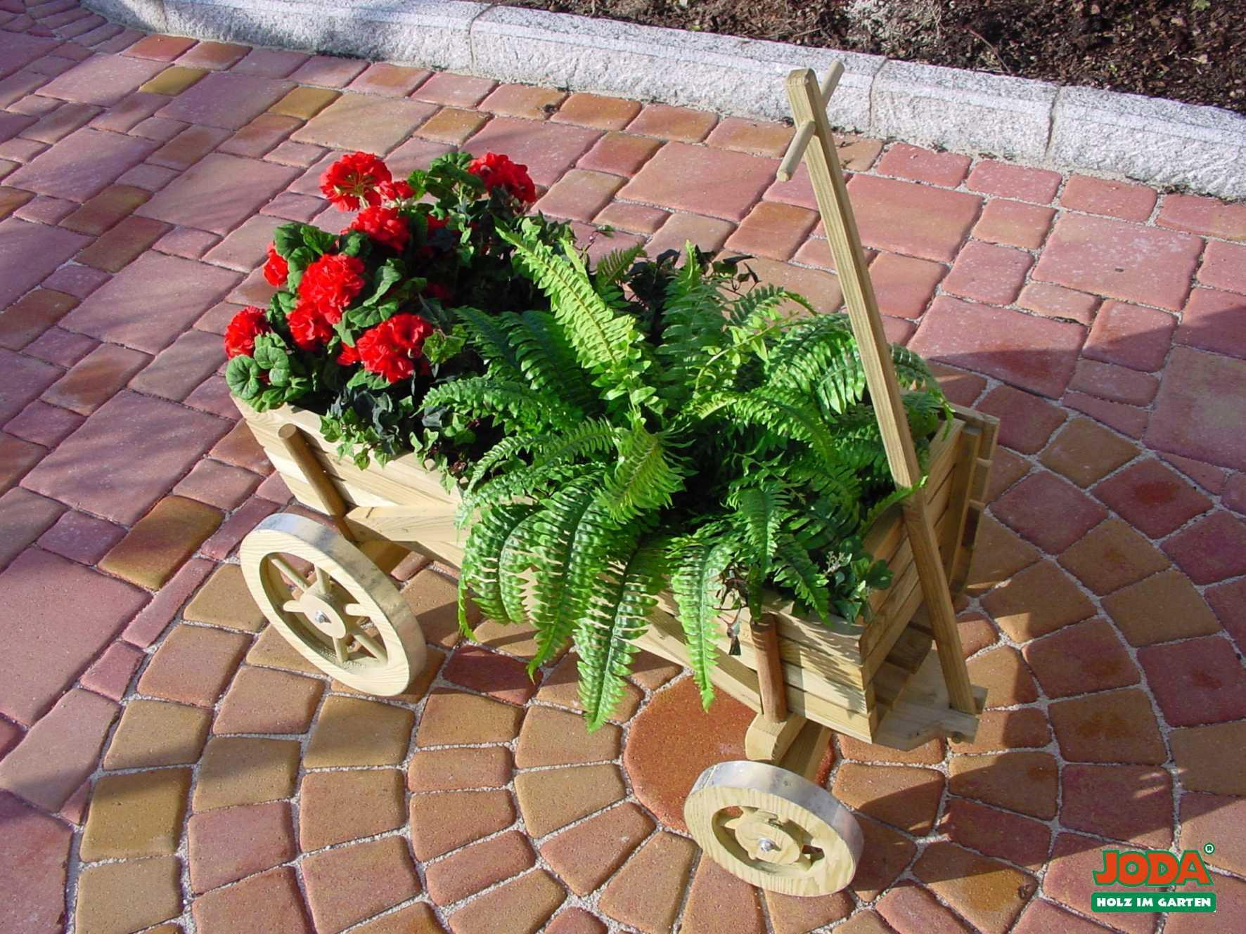 Pflanzwagen mit beweglicher Deichsel