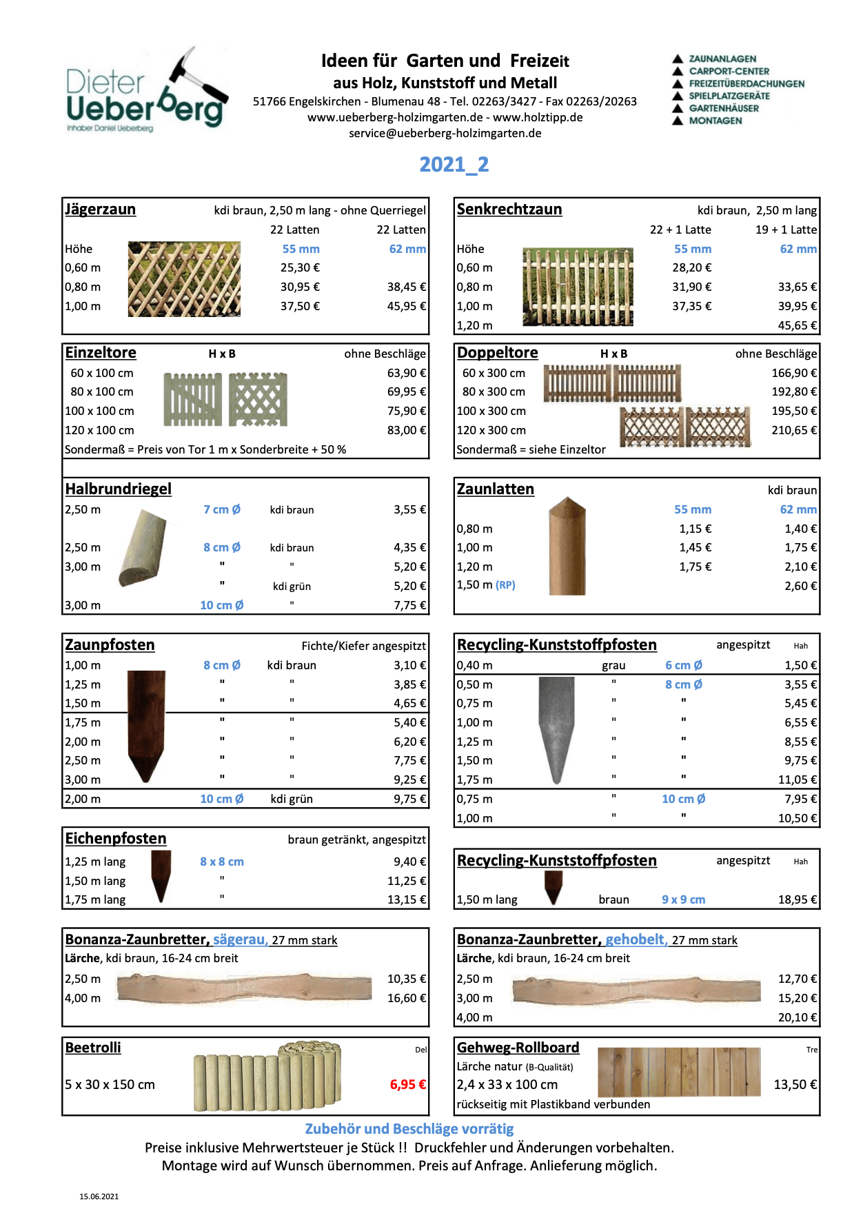 Jägerzaun Senkrechtzaun Rundhölzer Ueberberg 2021_2