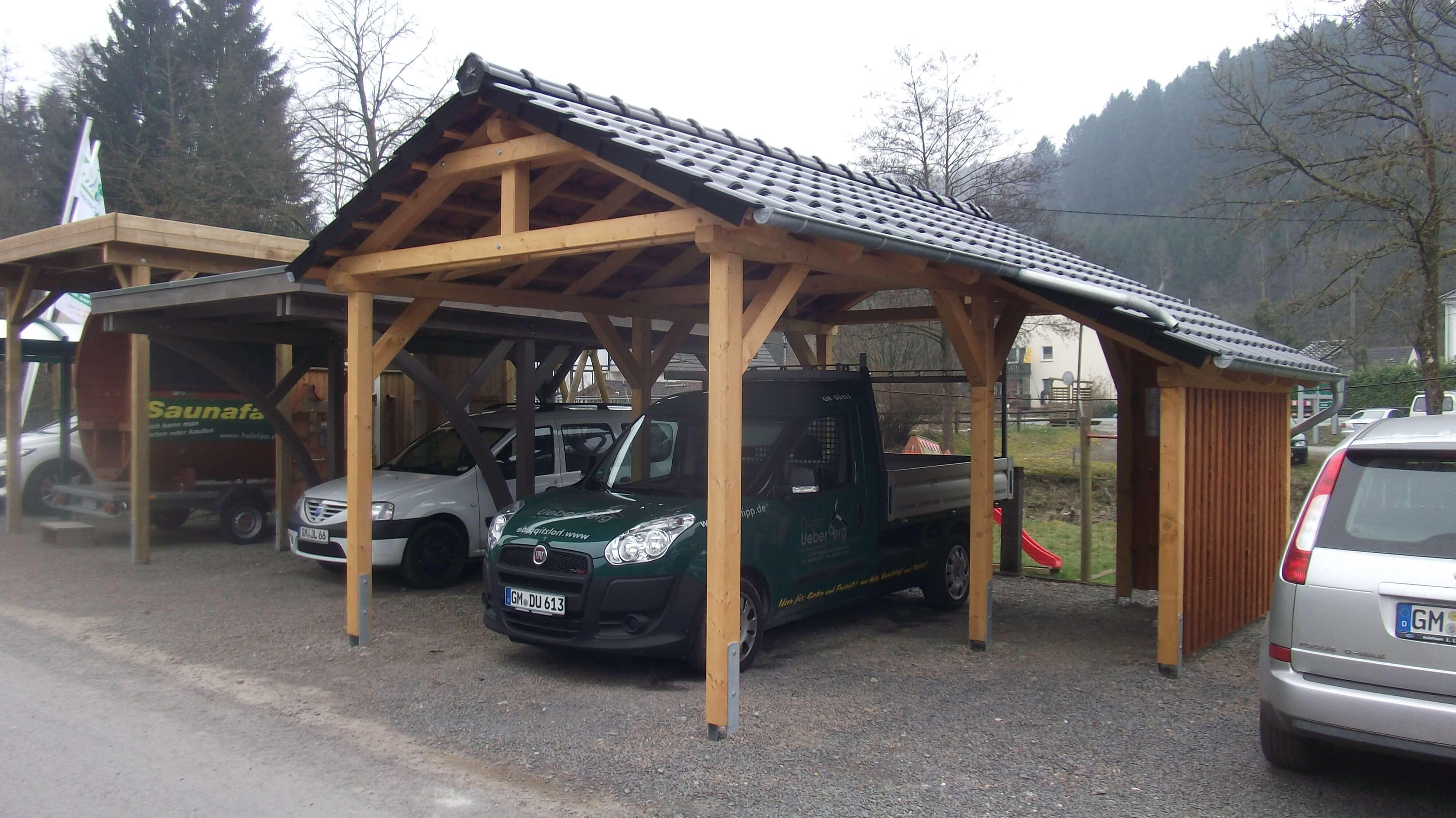 Giebeldachcarport Ueberberg 1