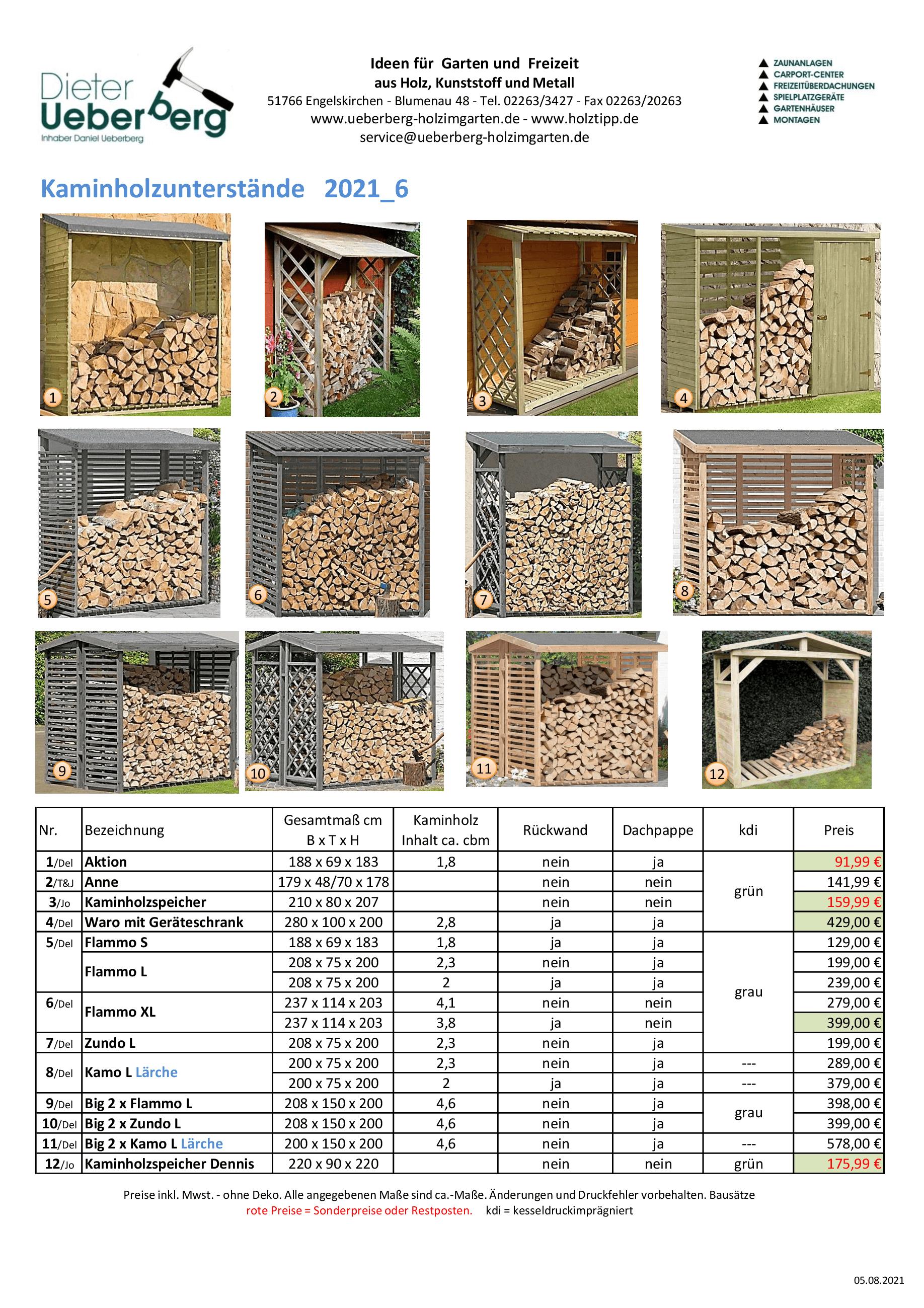 Kaminholzunterstände Ueberberg 2021 _6