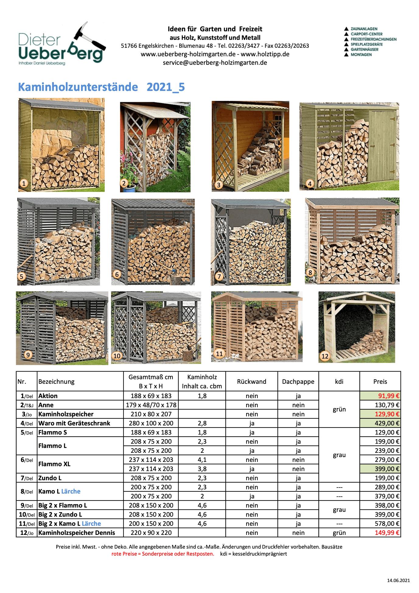 Kaminholzunterstände Ueberberg 2021 _5